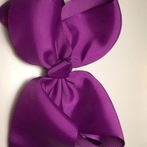 Purple 7 inch hair bow